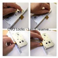 OVO® Standard Bathroom Privacy WC Locks Polished Stainless Steel/Chrome Finish